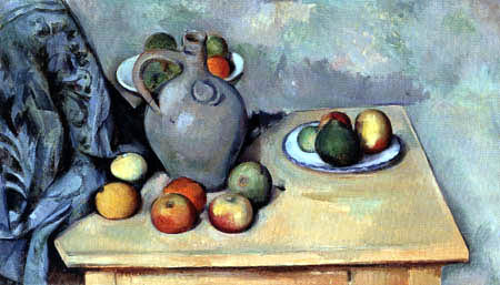 Paul Cézanne (Cezanne) - Pitcher and fruit on a table
