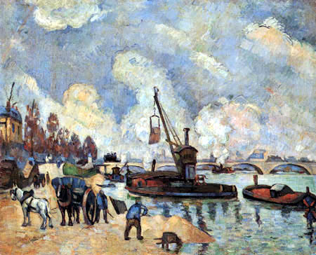 Paul Cézanne (Cezanne) - Quai de Bercy in Paris