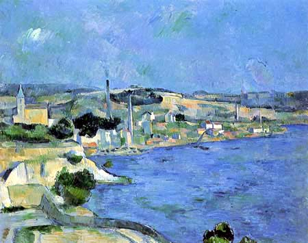 Paul Cézanne (Cezanne) - Saint-Henri and the Bay of l'Estaque