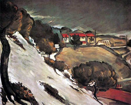 Paul Cézanne (Cezanne) - Schneeschmelze in l´Estaque