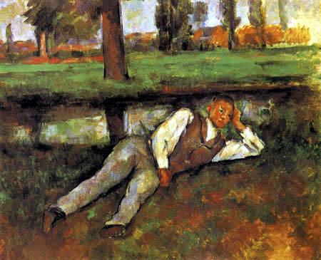 Paul Cézanne (Cezanne) - Lying Boy