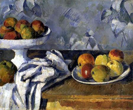 Paul Cézanne (Cezanne) - Stilleben mit Äpfeln und Schale