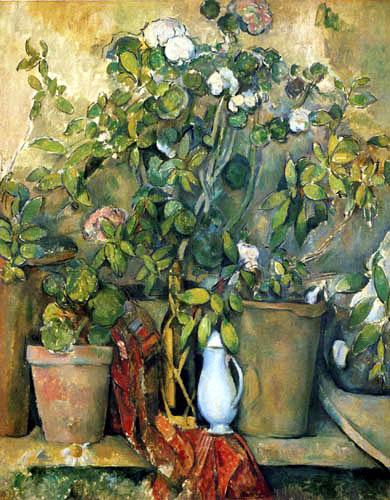 Paul Cézanne (Cezanne) - Still life with flower pots