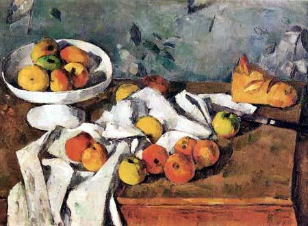 Paul Cézanne (Cezanne) - Stilleben mit Früchten und Brot