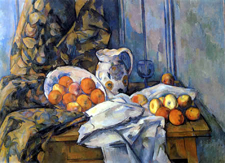 Paul Cézanne (Cezanne) - Still Life with Fruit and Jug