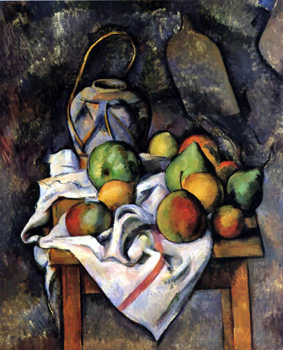 Paul Cézanne (Cezanne) - Still Life with Fruits and Ginger Jar