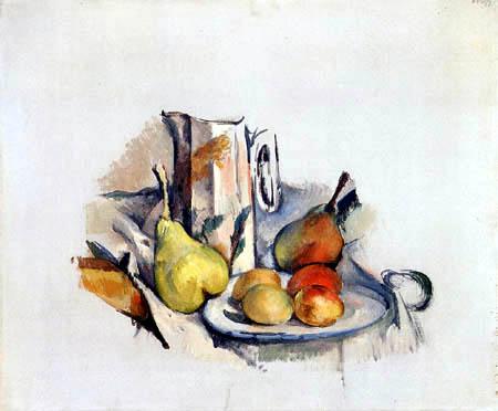 Paul Cézanne (Cezanne) - Stilleben mit Krug und Früchten