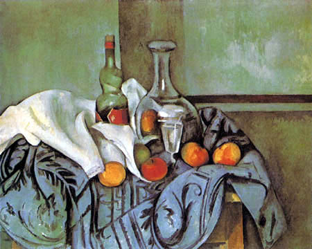 Paul Cézanne (Cezanne) - Still life with a bottle of peppermint liqueur