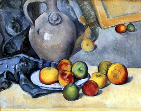 Paul Cézanne (Cezanne) - Stilleben mit Steingutkrug