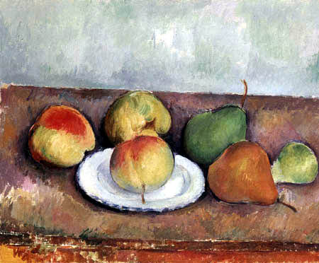 Paul Cézanne (Cezanne) - Still life with apples and pears