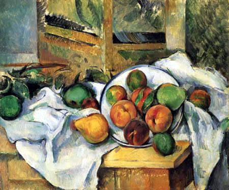 Paul Cézanne (Cezanne) - Ecktisch mit Obst