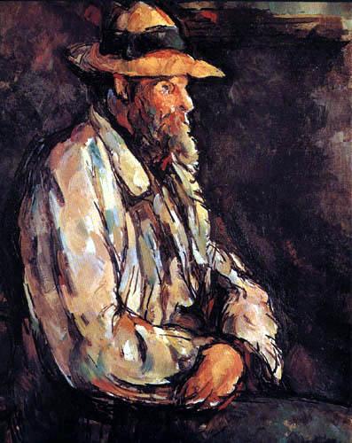 Paul Cézanne (Cezanne) - Vallier mit Strohhut