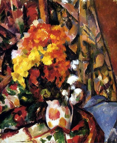 Paul Cézanne (Cezanne) - Vase of Chrysanthemums