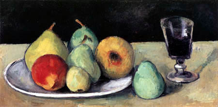 Paul Cézanne (Cezanne) - Still Life with Glass and Pears