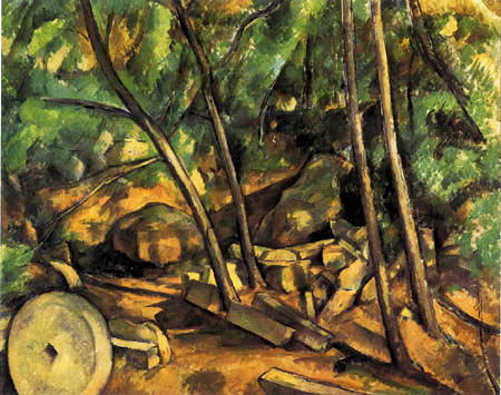 Paul Cézanne (Cezanne) - Forest with millstone