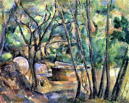 Paul Cézanne (Cezanne) - Bosque con piedra de molino