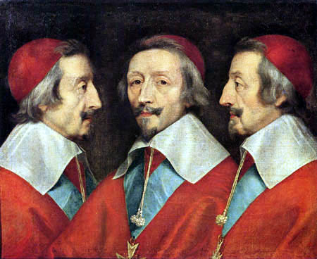 Philippe de Champaigne - The triple portrait of Richelieu