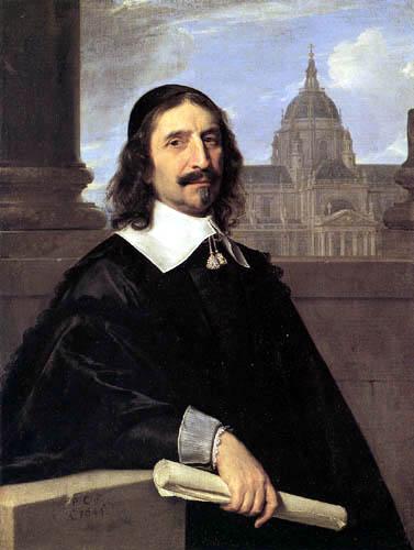 Philippe de Champaigne - Portrait of Jacques Lemercier