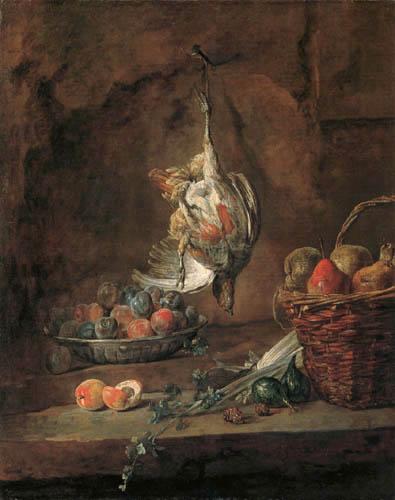 Jean-Baptiste Siméon Chardin - Stillleben mit Rebhuhn