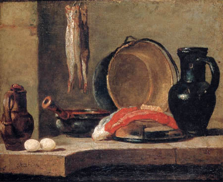 Jean-Baptiste Siméon Chardin - Kitchen still life