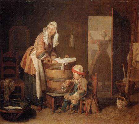 Jean-Baptiste Siméon Chardin - Die Wäscherin