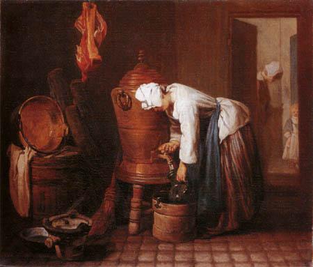 Jean-Baptiste Siméon Chardin - Woman, water getting