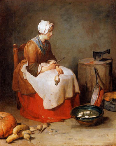 Jean-Baptiste Siméon Chardin - A cook with beets