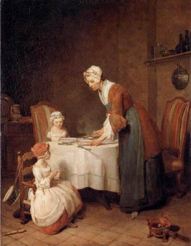 Jean-Baptiste Siméon Chardin - Das Tischgebet