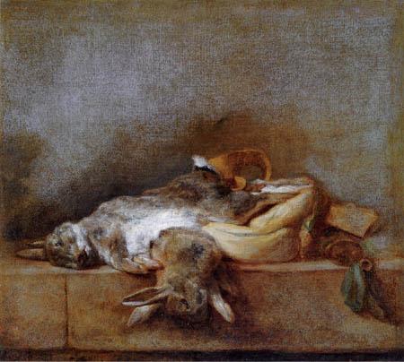 Jean-Baptiste Siméon Chardin - Rabbit and powder horn