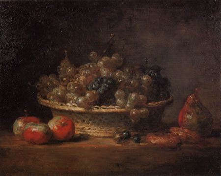 Jean-Baptiste Siméon Chardin - A basket of grapes