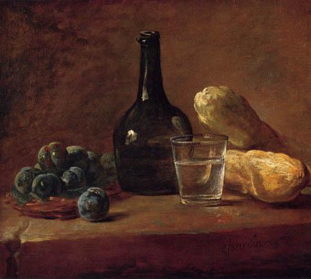 Jean-Baptiste Siméon Chardin - Stillleben mit Pflaumen