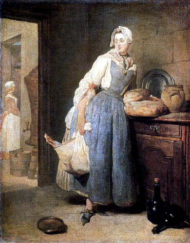 Jean-Baptiste Siméon Chardin - The kitchenmaid