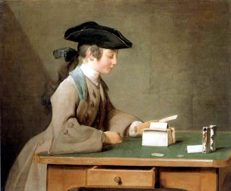 Jean-Baptiste Siméon Chardin - Das Kartenhaus