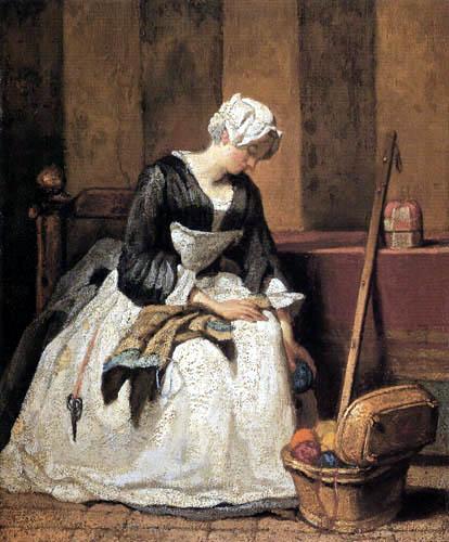 Jean-Baptiste Siméon Chardin - Embroiderer woman