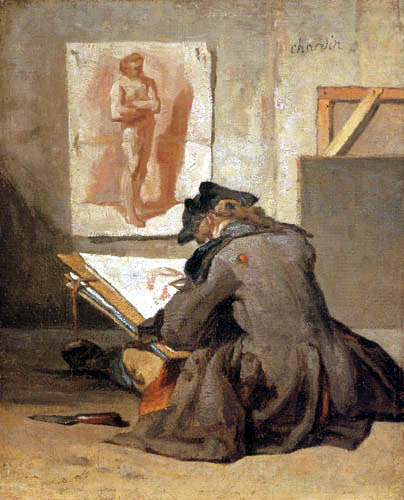 Jean-Baptiste Siméon Chardin - An apprentice while drawing