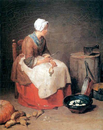 Jean-Baptiste Siméon Chardin - The kitchenmaid