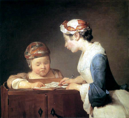 Jean-Baptiste Siméon Chardin - The little teacher