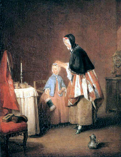 Jean-Baptiste Siméon Chardin - La toilette de matin