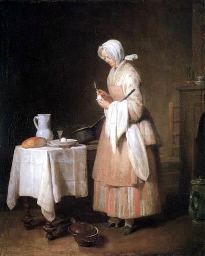 Jean-Baptiste Siméon Chardin - L'infirmière de patient