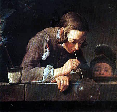 Jean-Baptiste Siméon Chardin - Die Seifenblasen