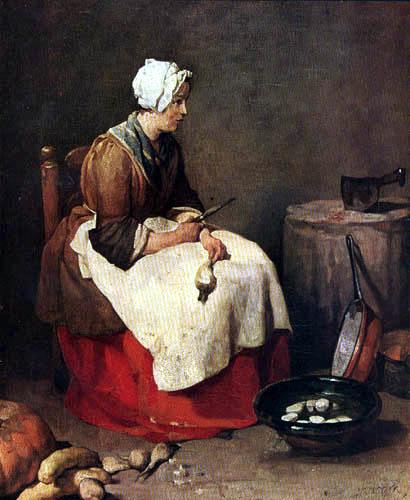 Jean-Baptiste Siméon Chardin - Die Rübenschälerin