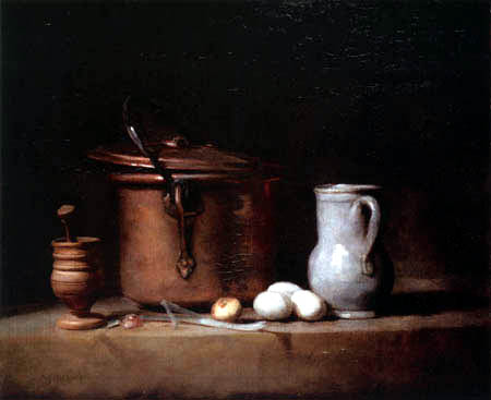 Jean-Baptiste Siméon Chardin - Kitchen Still Life with a Copper Cauldron