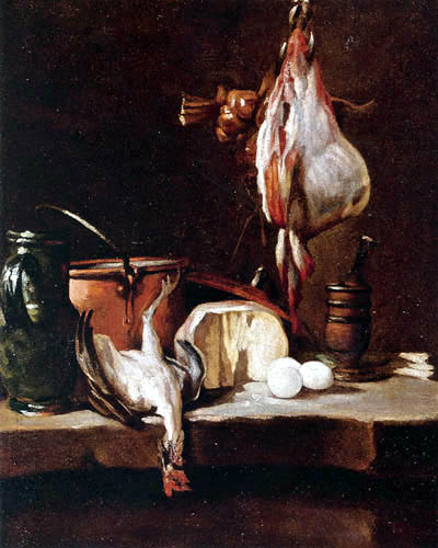 Jean-Baptiste Siméon Chardin - Kitchen Still Life with a Ray-Fish and Eggs