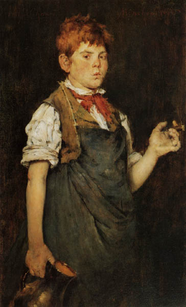 William Merritt Chase - Le Apprenti