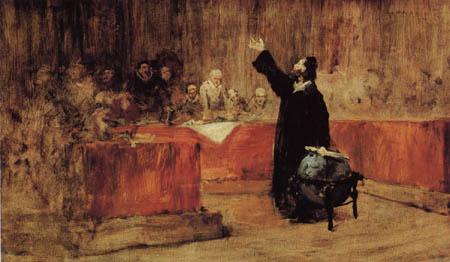 William Merritt Chase - Colomb devant le conseil des Salamanca