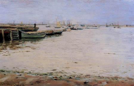 William Merritt Chase - Trüber Tag an der Gowanus Bucht