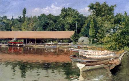 William Merritt Chase - Das Bootshaus im Prospect Park