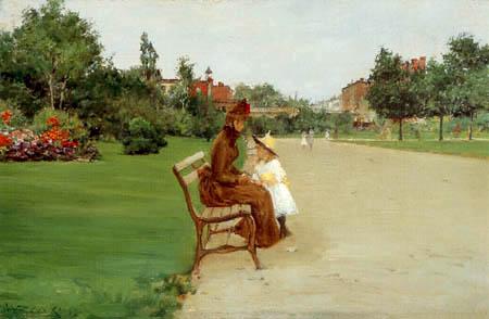 William Merritt Chase - Im Tompkins Park