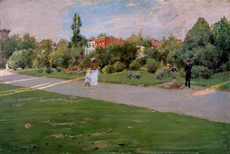 William Merritt Chase - El Parque, Brooklyn