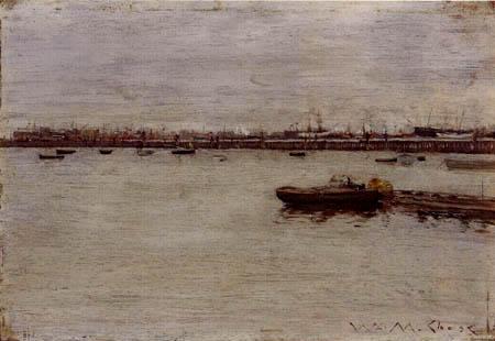 William Merritt Chase - Dique de reparación, Gowanus Pier